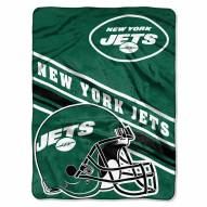 New York Jets Slant Raschel Blanket