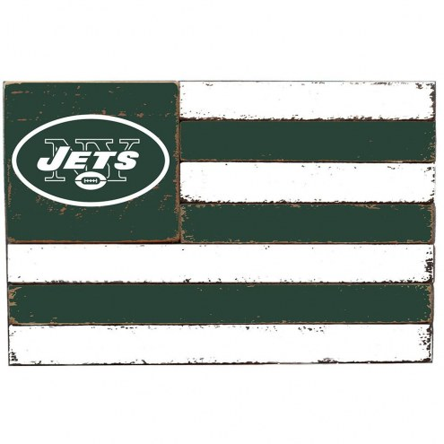 New York Jets Small Flag Wall Art