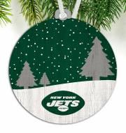 New York Jets Snow Scene Ornament