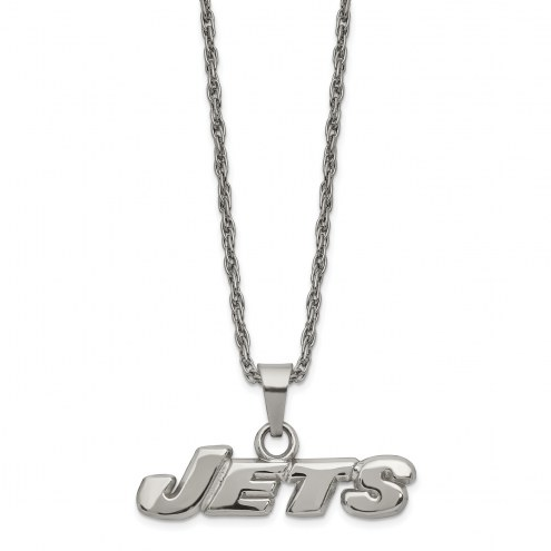New York Jets Stainless Steel Pendant on Chain