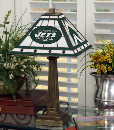 New York Jets Stained Glass Mission Table Lamp