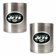 New York Jets Stainless Steel Can Coozie Set