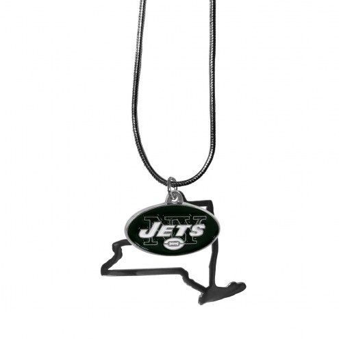 New York Jets State Charm Necklace