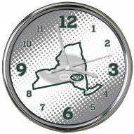 New York Jets State of Mind Chrome Clock