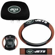 New York Jets Steering Wheel & Headrest Cover Set