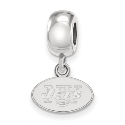 New York Jets Sterling Silver Extra Small Dangle Bead Charm