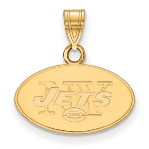 New York Jets Sterling Silver Gold Plated Small Pendant