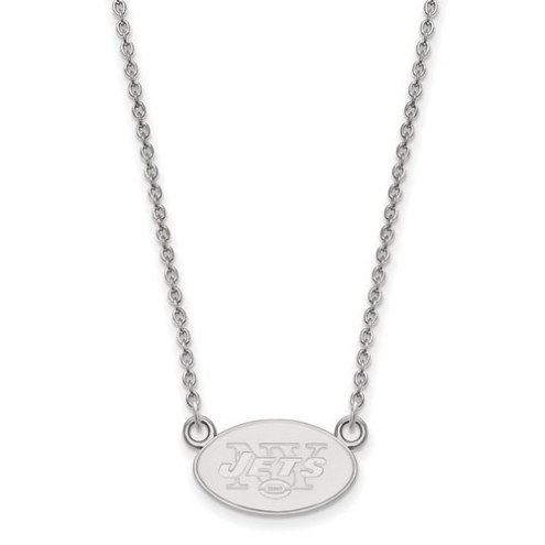 New York Jets Sterling Silver Small Pendant with Necklace