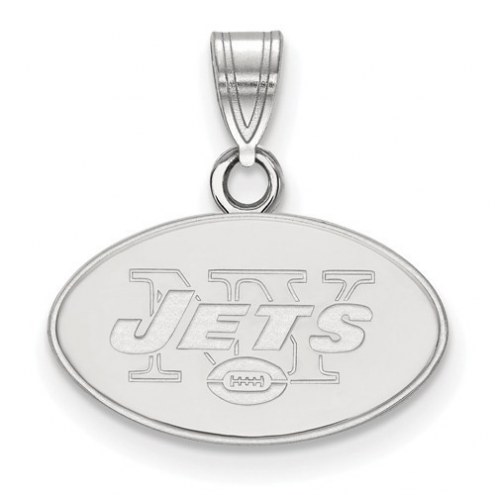 New York Jets Sterling Silver Small Pendant