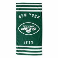 New York Jets Stripes Beach Towel