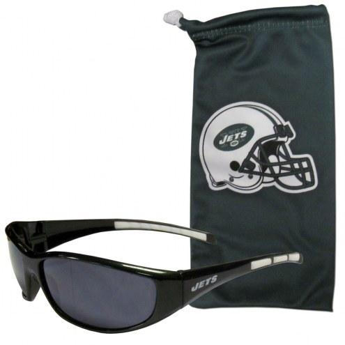 New York Jets Sunglasses and Bag Set