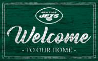 New York Jets Team Color Welcome Sign