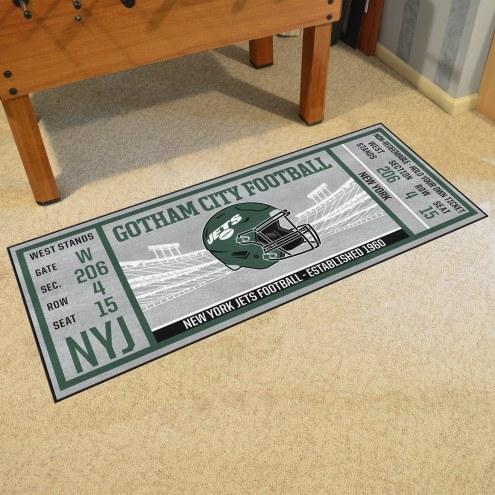 New York Jets Ticket Runner Rug