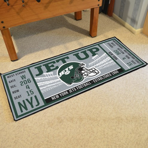New York Jets Ticket Runner Rug