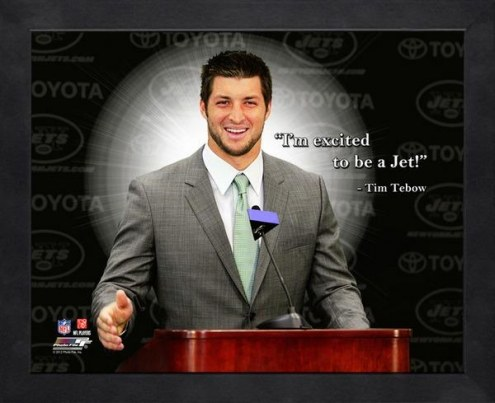 New York Jets Tim Tebow Framed Pro Quote