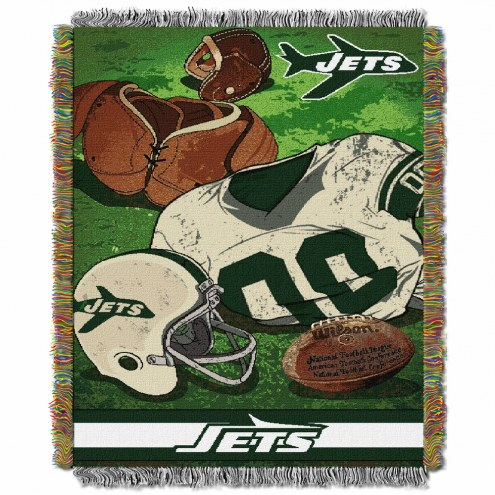 New York Jets Vintage Throw Blanket