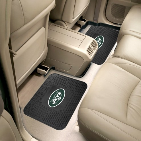 New York Jets Vinyl 2-Piece Rear Floor Mats