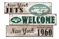 New York Jets Welcome 3 Plank Sign