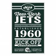 New York Jets Established Wood Sign