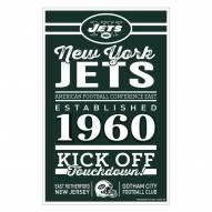 New York Jets Established Wood Sign