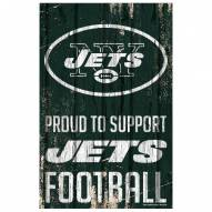 New York Jets Proud to Support Wood Sign