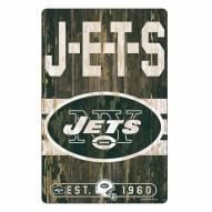 New York Jets Slogan Wood Sign