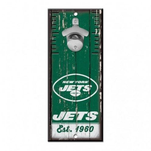 New York Jets Wood Bottle Opener
