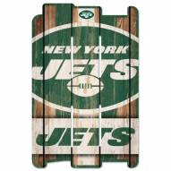 New York Jets Wood Fence Sign