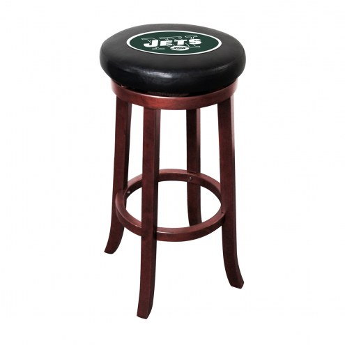 New York Jets Wooden Bar Stool
