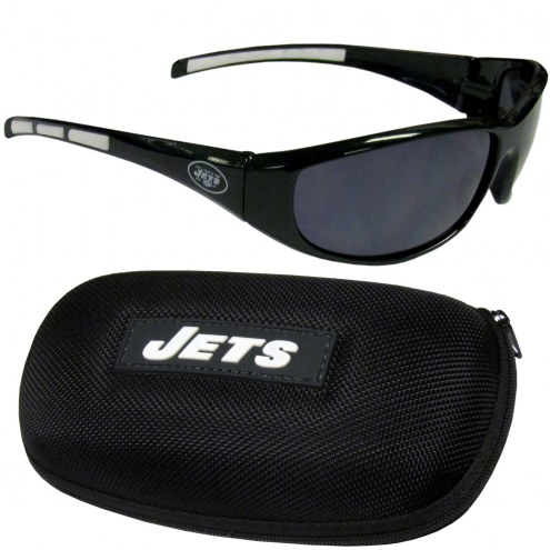 New York Jets Wrap Sunglasses and Case Set