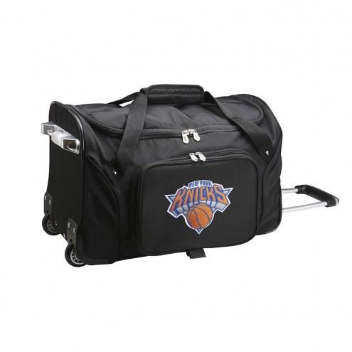 "New York Knicks 22"" Rolling Duffle Bag"
