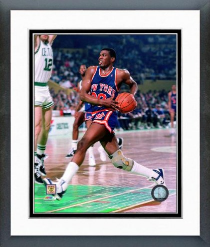 New York Knicks Bernard King 1987 Action Framed Photo
