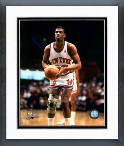 New York Knicks Bernard King Action Framed Photo
