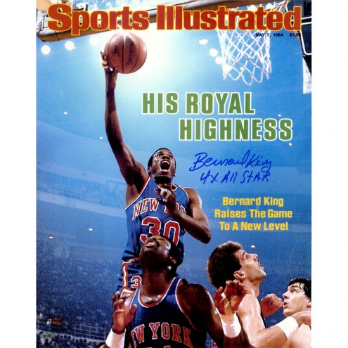 "New York Knicks Bernard King Sports Illustrated w/ ""4x All Star"" Signed 16"" x 20"" Photo"