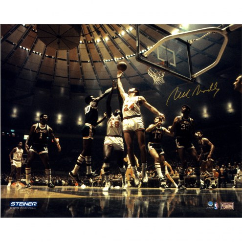 "New York Knicks Bill Bradley Rebound Signed 16"" x 20"" Photo"