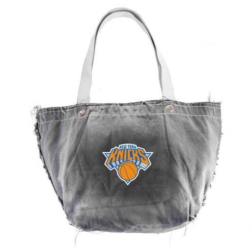 New York Knicks Black NBA Vintage Tote Bag