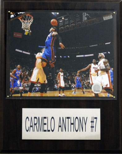 "New York Knicks Carmelo Anthony 12"" x 15"" Player Plaque"