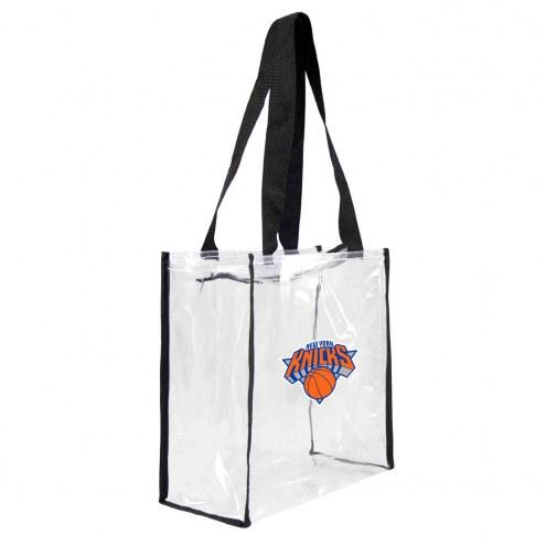 New York Knicks Clear Square Stadium Tote