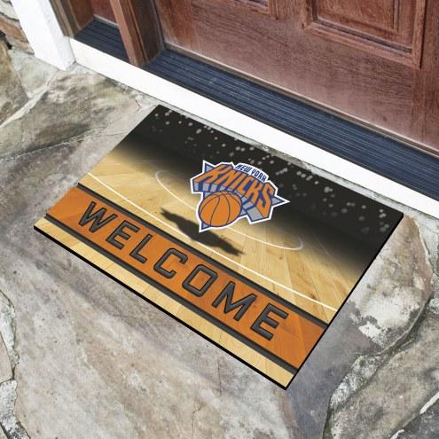 New York Knicks Crumb Rubber Door Mat
