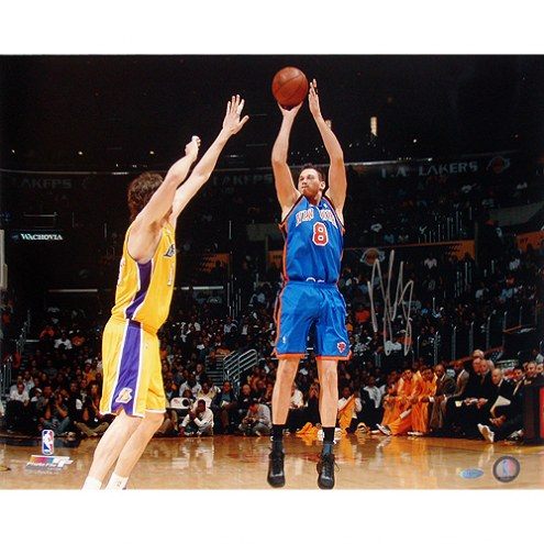 "New York Knicks Danilo Gallinari Jump Shot vs Lakers Signed 16"" x 20"" Photo"