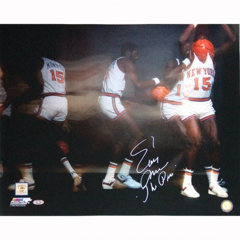 "New York Knicks Earl Monroe Exposure ""The Pearl"" Signed 16"" x 20"" Photo"
