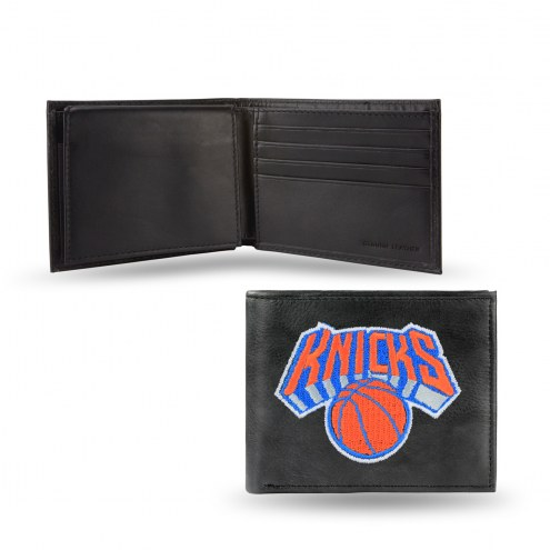 New York Knicks Embroidered Leather Billfold Wallet
