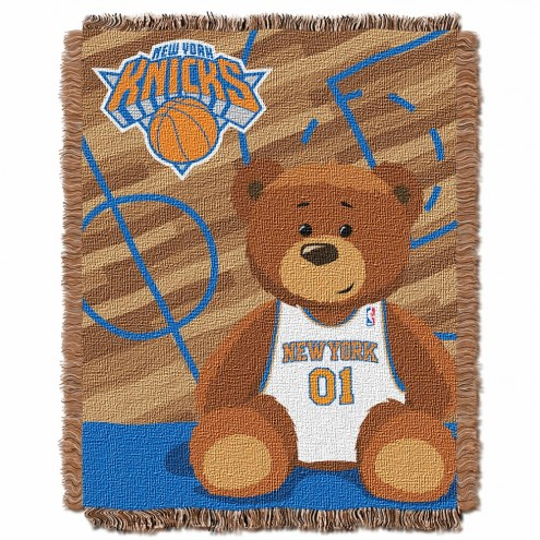 New York Knicks Half Court Baby Blanket