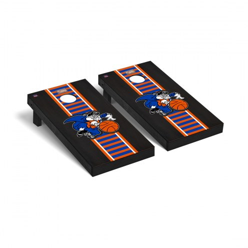 New York Knicks Hardwood Classic Onyx Stained Cornhole Game Set