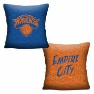 New York Knicks Invert Woven Pillow