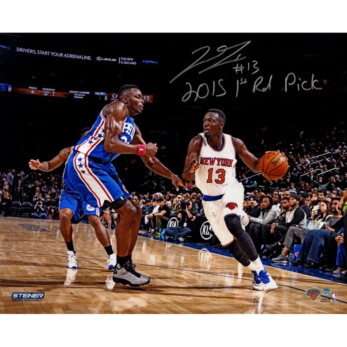 "New York Knicks Jerian Grant Metallic Photo w/ ""2015 1st Rd Pick"" Signed 16"" x 20"" Photo"