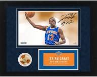 New York Knicks Jerian Grant Signed Rookie Season 11 x 14 Framed Collage w/ Game Used Net