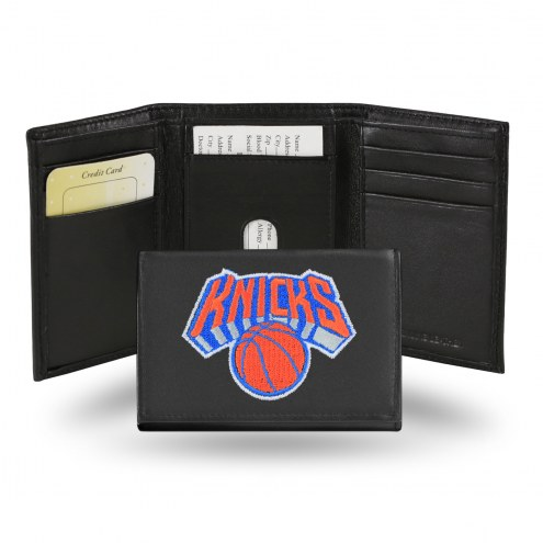 New York Knicks NBA Embroidered Leather Tri-Fold Wallet