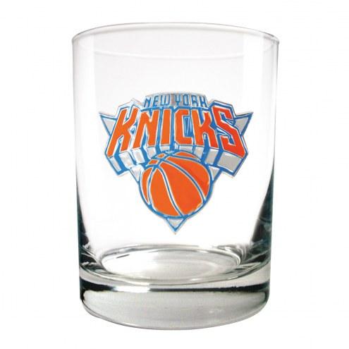 New York Knicks NBA 2-Piece 14 Oz. Rocks Glass Set
