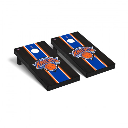 New York Knicks Onyx Stained Cornhole Game Set